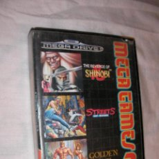 Videojuegos y Consolas: TRIPLE JUEGO SEGA MEGADRIVE - THE REVENGE OF SHINOBI - STREETS OF RAGE - GOLDEN AXE. Lote 36390863