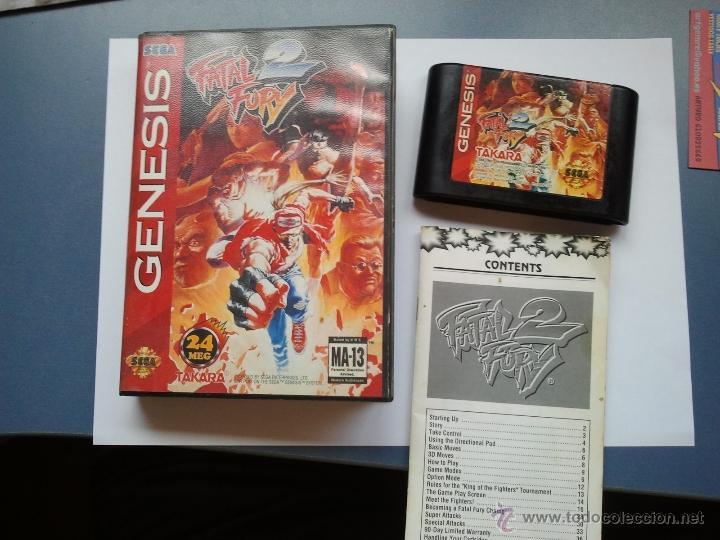JUEGO PARA LA SEGA MEGADRIVE FATAL FURY 2 (Juguetes - Videojuegos y Consolas - Sega - MegaDrive)