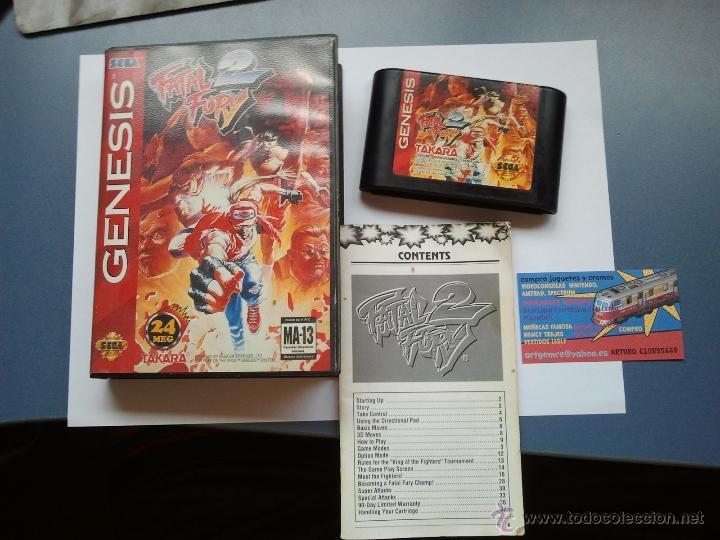 Videojuegos y Consolas: juego para la sega megadrive fatal fury 2 - Foto 2 - 39733528