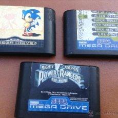 Videojuegos y Consolas: JUEGOS JUEGO SEGA MEGA DRIVE MEGADRIVE SONIC POWER RANGERS Y MEGAGAMES. Lote 40670413