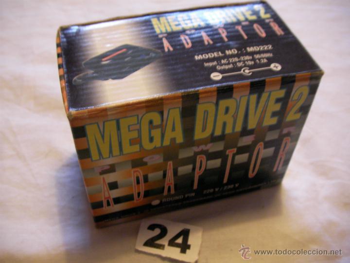 ADAPTADOR MEGA DRIVE 10 V - 1,2 AMP NUEVO EN SU CAJA (Juguetes - Videojuegos y Consolas - Sega - MegaDrive)