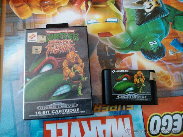 Juego Mega Drive Tortugas Ninjas En Caja Origin Comprar