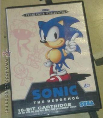 SONIC - SEGA MEGADRIVE (Juguetes - Videojuegos y Consolas - Sega - MegaDrive)