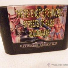 Videojuegos y Consolas: THE REVENGE OF SHINOBI STREETS OF RAGE GOLDENAXE. Lote 46506314