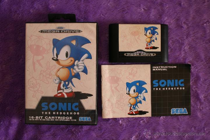 SONIC SEGA MEGA DRIVE COMPLETO MEGADRIVE (Juguetes - Videojuegos y Consolas - Sega - MegaDrive)