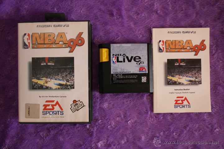 NBA LIVE 96 SEGA MEGA DRIVE COMPLETO MEGADRIVE (Juguetes - Videojuegos y Consolas - Sega - MegaDrive)