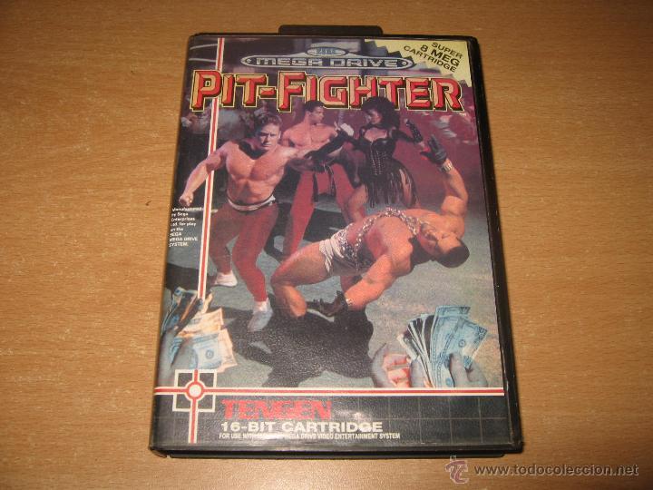 PIT FIGHTER SEGA MEGADRIVE PAL ESPAÑA COMPLETO TENGEN 8 MEGAS CARTUCHO (Juguetes - Videojuegos y Consolas - Sega - MegaDrive)