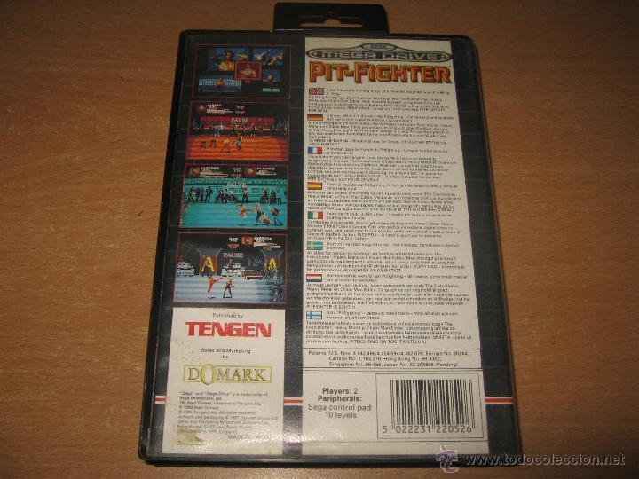 Videojuegos y Consolas: PIT FIGHTER SEGA MEGADRIVE PAL ESPAÑA COMPLETO TENGEN 8 MEGAS CARTUCHO - Foto 2 - 49780948