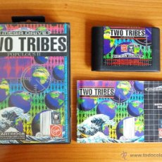 Videojuegos y Consolas: JUEGO MEGADRIVE 'TWO TRIBES, POPULOUS 2', VERSIÓN PAL ESPAÑA, COMPLETO.. Lote 50173737