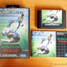 Videojuegos y Consolas: JUEGO MEGADRIVE 'WORLD CUP ITALIA 90, VERSIÓN PAL ESPAÑA, COMPLETO.. Lote 50173774
