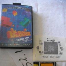 Videojuegos y Consolas: ANTIGUO JUEGO SEGA MEGADRIVE - BLOCKOUT . Lote 50599824