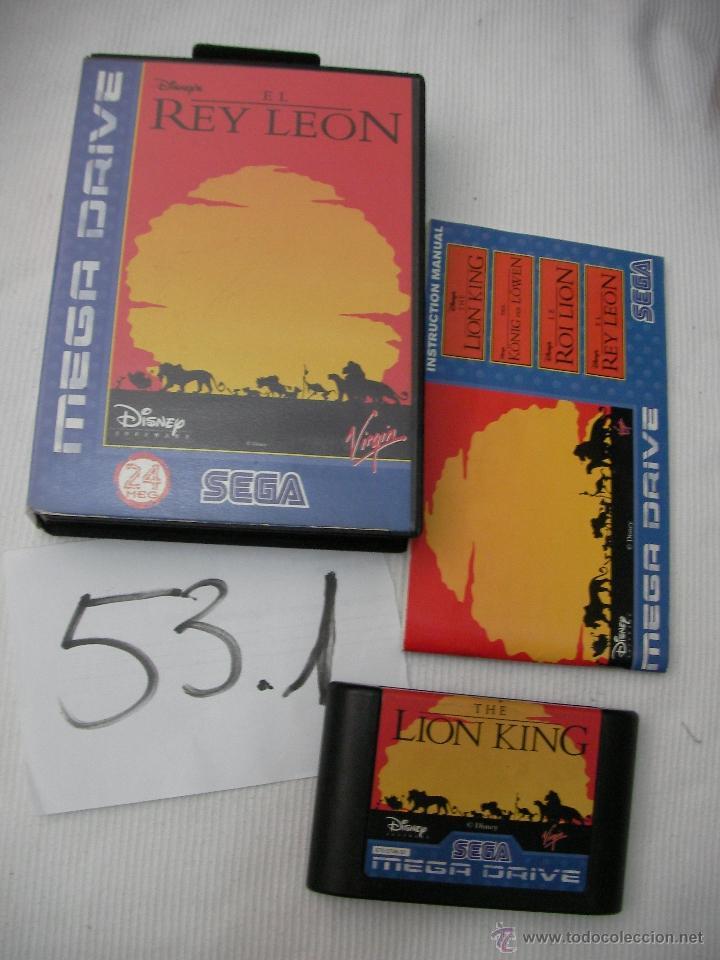 ANTIGUO JUEGO SEGA MEGADRIVE - EL REY LEON (Juguetes - Videojuegos y Consolas - Sega - MegaDrive)
