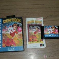 Videojuegos y Consolas: SNOW BROS JUEGO SEGA MEGADRIVE REPLICA MEGA DRIVE TOAPLAN. Lote 51566659