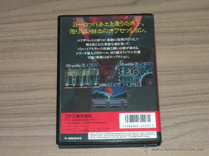 Videojuegos y Consolas: VAMPIRE KILLER Completo SEGA MEGADRIVE jp MEGA DRIVE Castlevania - Foto 3 - 51696778