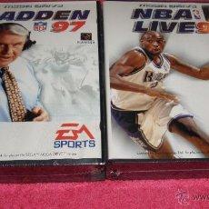 Videojuegos y Consolas: JUEGO PARA SEGA MEGA DRIVE MADDEN NFB 97 + NBA LIVE 97 NUEVO Y PRECINTADO. Lote 277015343
