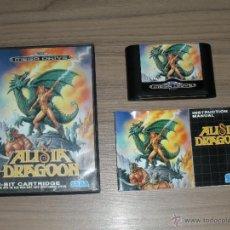 Videogiochi e Consoli: ALISIA DRAGOON COMPLETO SEGA MEGADRIVE PAL ESPAÑA MEGA DRIVE ALISIA DRAGON. Lote 52278486