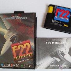 Videojuegos y Consolas: SEGA MEGADRIVE JUEGO F22. Lote 52694195
