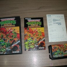 Videojuegos y Consolas: TURTLES RETURN OF THE SHREDDER COMPLETO SEGA MEGADRIVE JP MEGA DRIVE COMO NUEVO. Lote 53022786