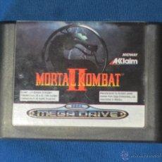 Videojuegos y Consolas: MORTAL KOMBAT II - SEGA MEGA DRIVE - PAL ESPAÑA - SOLO EL CARTUCHO - ORIGINAL -. Lote 54319704