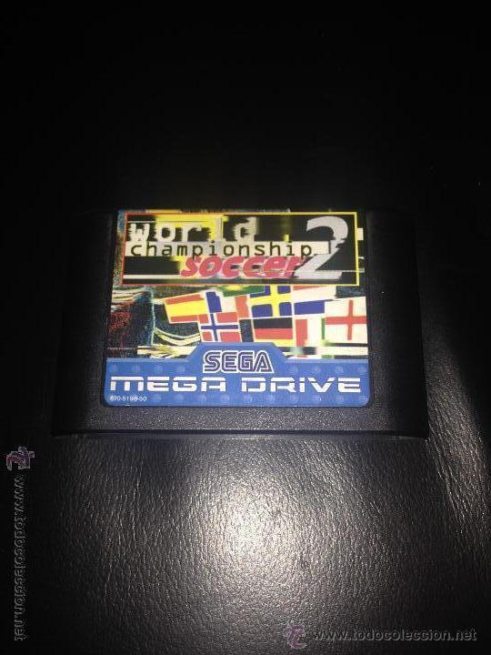 WORLD CHAMPIONSHIP SOCCER 2 JUEGO SEGA MEGADRIVE MEGA DRIVE PAL VERSIÓN ESPAÑOLA (Juguetes - Videojuegos y Consolas - Sega - MegaDrive)