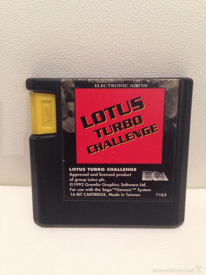 ANTIGUO JUEGO LOTUS TURBO CHALLENGE 1992 (Juguetes - Videojuegos y Consolas - Sega - MegaDrive)