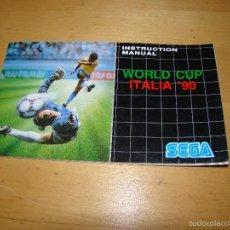 Videojuegos y Consolas: SEGA MEGADRIVE - MANUAL COLUMNSWORLD CUP ITALIA '90. Lote 57119586