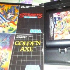 Videojuegos y Consolas: MEGA GAMES. GOLDEN AXE.STRETS OF FIRE. SHINOBI. 3 JUEGOS SEGA MEGA DRIVE. Lote 57324683