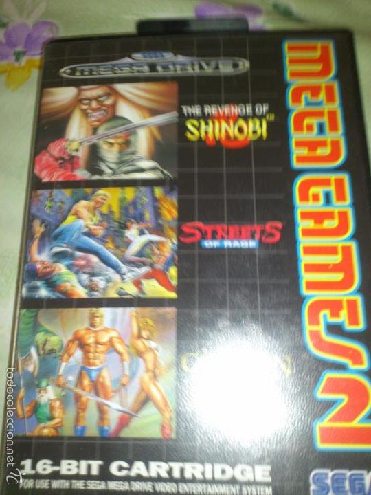 Videojuegos y Consolas: mega GAMES. GOLDEN AXE.strets of fire. SHINOBI. 3 JUEGOS SEGA MEGA DRIVE - Foto 2 - 57324683