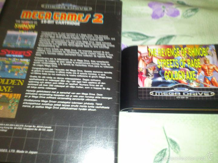 Videojuegos y Consolas: mega GAMES. GOLDEN AXE.strets of fire. SHINOBI. 3 JUEGOS SEGA MEGA DRIVE - Foto 3 - 57324683