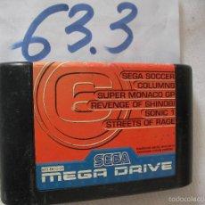 Videojuegos y Consolas: ANTIGUO CARTUCHO CON SEIS JUEGOS SEGA MEGADRIVE . Lote 57498055
