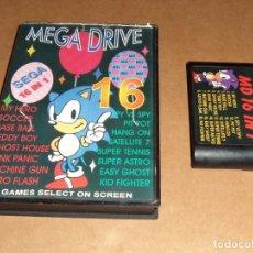 Videojuegos y Consolas: MEGA DRIVE MD 16 IN 1 PARA SEGA MEGADRIVE / MEGA DRIVE, PAL. Lote 61546680