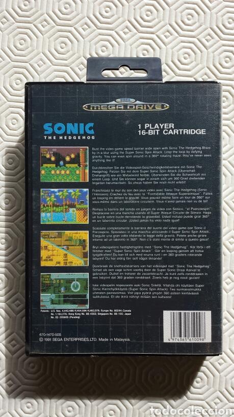 Videojuegos y Consolas: Juego Sonic Sega Megadrive. - Foto 3 - 62181604