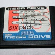 Videojuegos y Consolas: JUEGO SIX PACK PARA VIDEO CONSOLA MEGADRIVE, 6 JUEGOS DE MEGA DRIVE. Lote 99255595