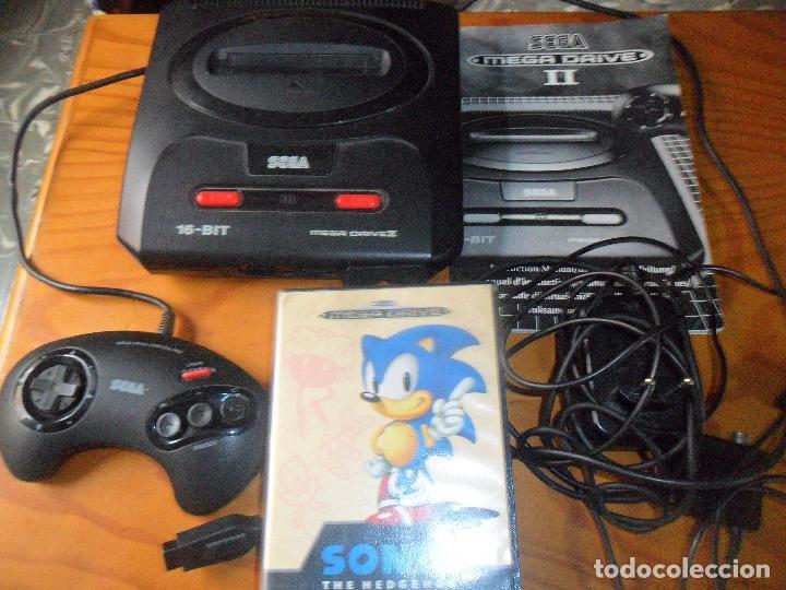 CONSOLA MEGA DRIVE II - FUNCIONANDO CON MANUAL TODOS LOS CABLES Y 1 MANDO -SEGA MEGADRIVE (Juguetes - Videojuegos y Consolas - Sega - MegaDrive)