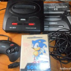 Videojuegos y Consolas: CONSOLA MEGA DRIVE II - FUNCIONANDO CON MANUAL TODOS LOS CABLES Y 1 MANDO -SEGA MEGADRIVE. Lote 67516129