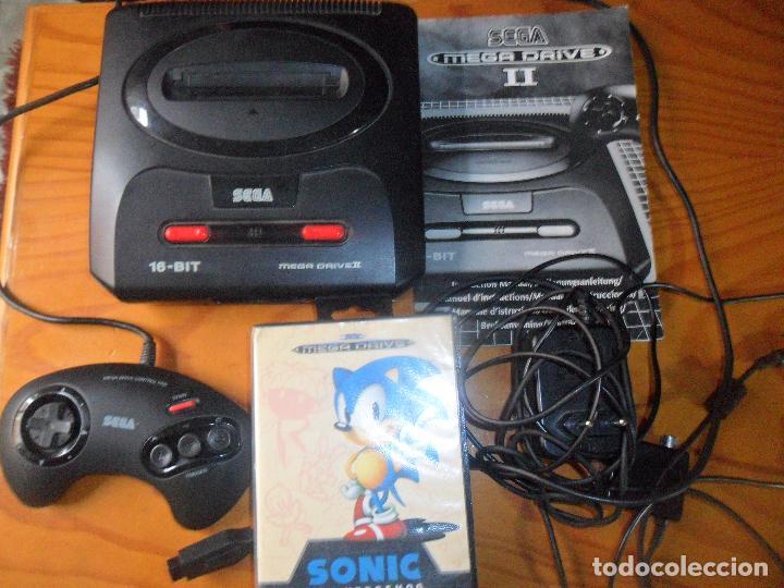 Videojuegos y Consolas: CONSOLA MEGA DRIVE II - FUNCIONANDO CON MANUAL TODOS LOS CABLES Y 1 MANDO -SEGA MEGADRIVE - Foto 2 - 67516129
