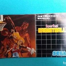 Videojuegos y Consolas: MANUAL DE INSTRUCCIONES SEGA MEGADRIVE SUPER REAL BASKETBALL . Lote 67553101