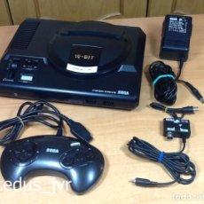 Videojuegos y Consolas: CONSOLA SEGA MEGADRIVE MEGA DRIVE LOTE CON MANDO Y CABLES EN BUEN ESTADO. Lote 70207773