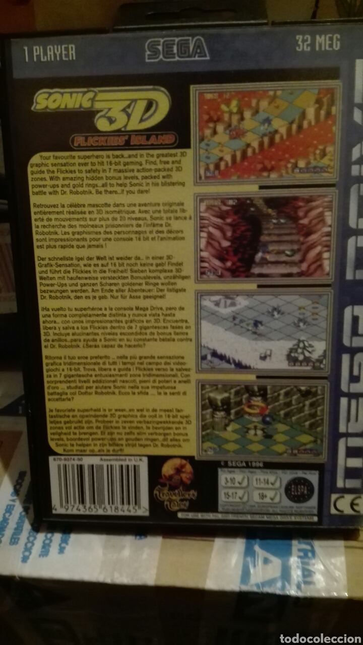 Videojuegos y Consolas: Sonic 3d sega - Foto 2 - 72687906