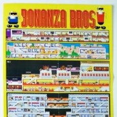 Videojuegos y Consolas: MAPA BONANZA BROS MEGADRIVE DE LA REVISTA HOBBY CONSOLAS MAP004. Lote 78612141