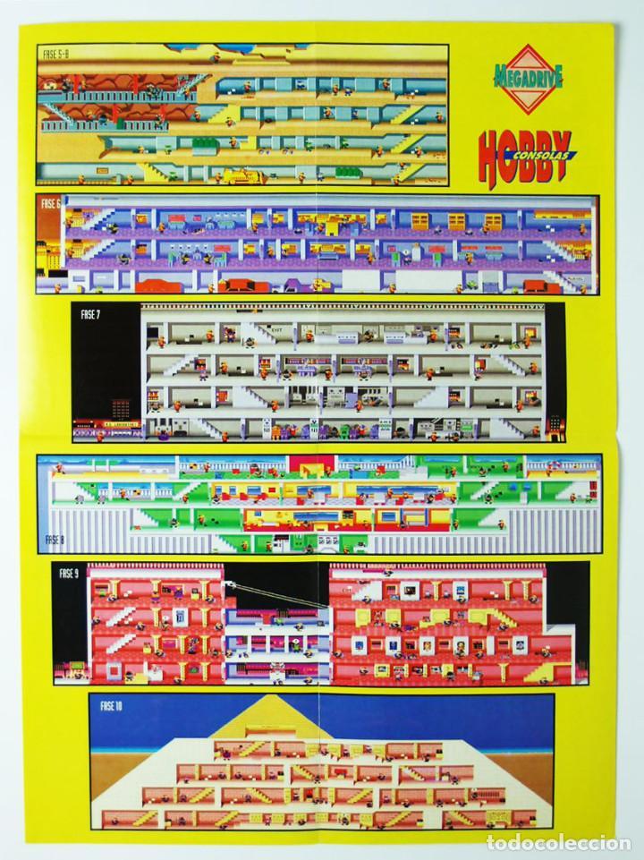 Videojuegos y Consolas: Mapa Bonanza Bros Megadrive de la revista Hobby Consolas MAP004 - Foto 2 - 78612141