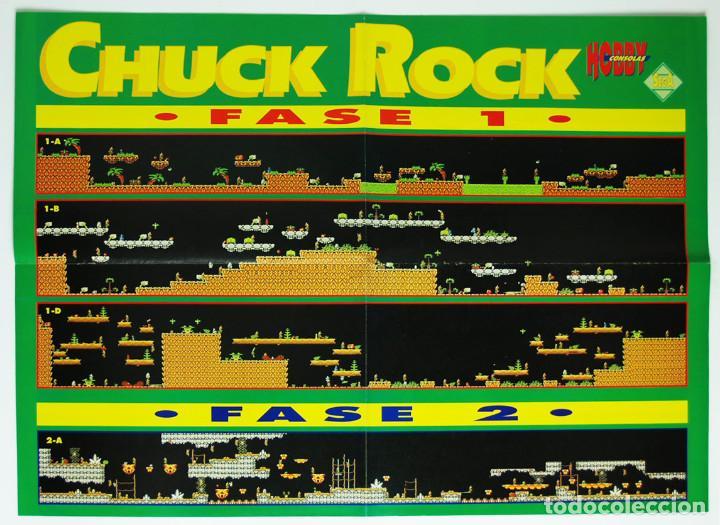 MAPA CHUCK ROCK MEGADRIVE DE LA REVISTA HOBBY CONSOLAS MAP001 (Juguetes - Videojuegos y Consolas - Sega - MegaDrive)