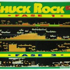Videojuegos y Consolas: MAPA CHUCK ROCK MEGADRIVE DE LA REVISTA HOBBY CONSOLAS MAP001. Lote 78612633