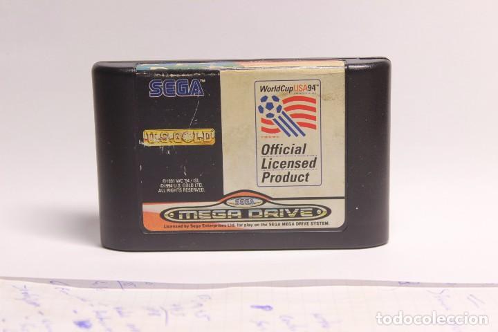 Videojuegos y Consolas: x2 CARTUCHOS MEGADRIVE - SONIC THE HEDGEHOG + WORLD CUP USA 94 - Foto 3 - 80302081