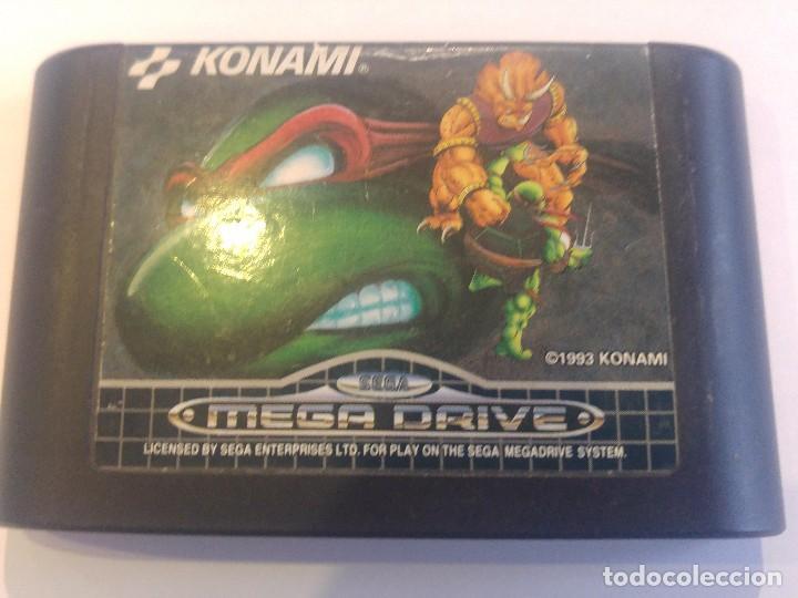 TURTLES TOURNAMENT FIGHTERS SEGA MEGADRIVE MEGA DRIVE VERSION PAL (Juguetes - Videojuegos y Consolas - Sega - MegaDrive)