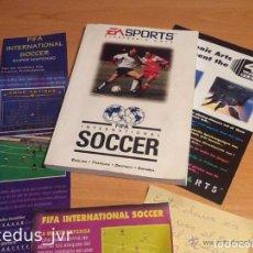 Videojuegos y Consolas: FIFA SOCCER LIBRO DE INSTRUCCIONES Y PAPELES DEL JUEGO DE SEGA MEGADRIVE MANUAL DE USUARIO. Lote 94838059