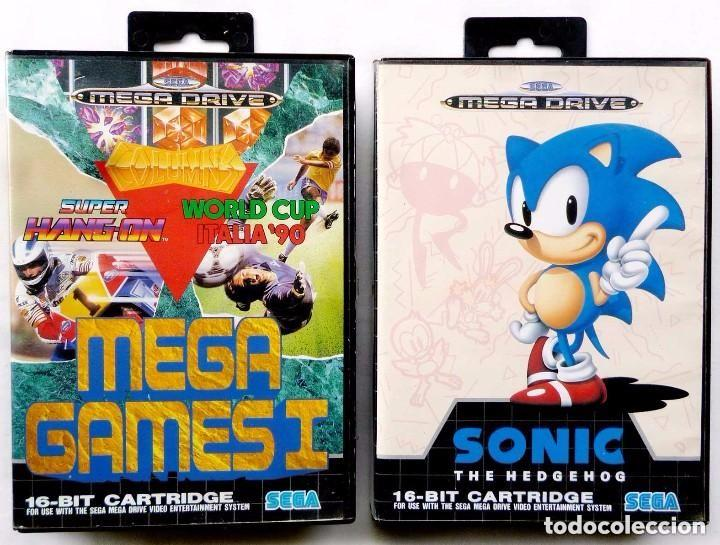 2 JUEGOS SEGA MEGA DRIVE. MEGA GAMES I Y SONIC THE HEDGEHOG. AÑO: 1991. (Juguetes - Videojuegos y Consolas - Sega - MegaDrive)