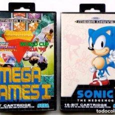 Videojuegos y Consolas: 2 JUEGOS SEGA MEGA DRIVE. MEGA GAMES I Y SONIC THE HEDGEHOG. AÑO: 1991.. Lote 97782659