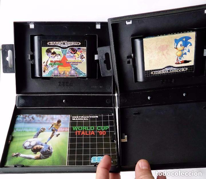 Videojuegos y Consolas: 2 JUEGOS SEGA MEGA DRIVE. MEGA GAMES I y SONIC THE HEDGEHOG. AÑO: 1991. - Foto 2 - 97782659