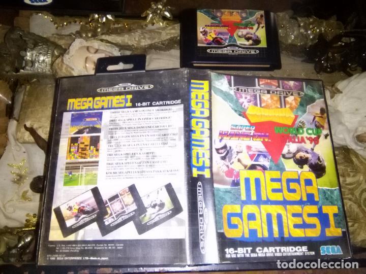 SEGA JUEGO MEGA DRIVE MEGADRIVE CARTUCHO ORIGINAL - MEGA GAMES I COLUMNS SUPER HANG ON WORLD CUP ITA (Juguetes - Videojuegos y Consolas - Sega - MegaDrive)